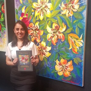 Vani with her new book, 'Flowers Forever'