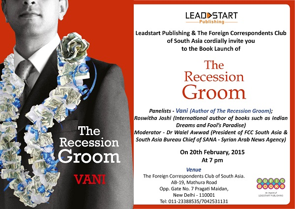 Book Launch Invite_20th Feb_ 7PM_The Recession Groom_Vani resized